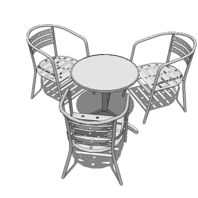Complete cafe/bistro set with chairs already arran....