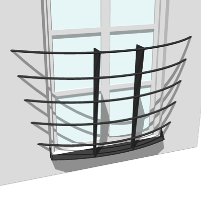 Balcony set 7 3d model formfonts 3d models textures for Balcony models