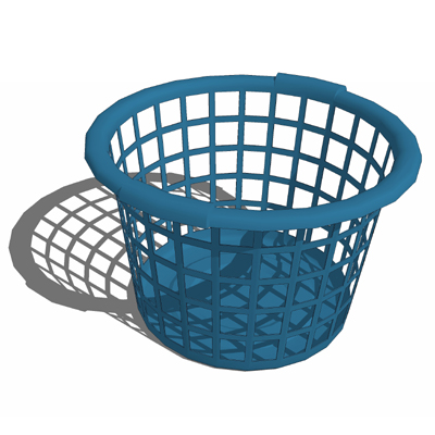 laundry basket set a 3d model