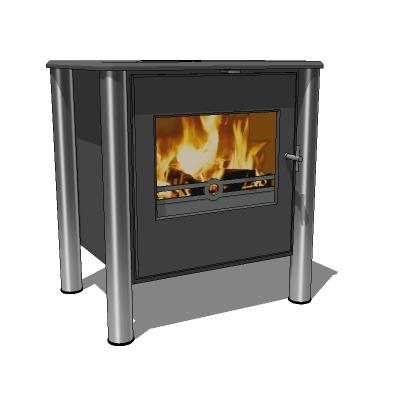 Wood stove 03 3d model formfonts 3d models textures - Small space wood stove model ...