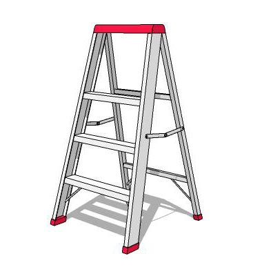Aluminium step ladder.