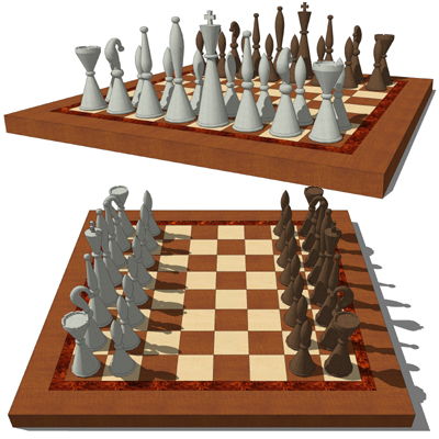 Chess Set B 3d Model Formfonts 3d Models Textures