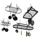 Enclume pot racks in different sizes and styles.