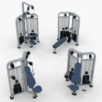 Life Fitness Strength gym equipment. Part of the S...