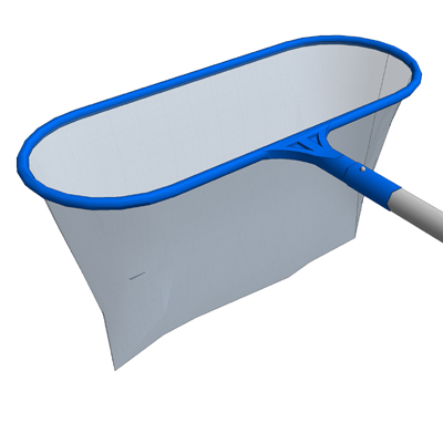 A pool net and skimmer with a telescoping handle f....