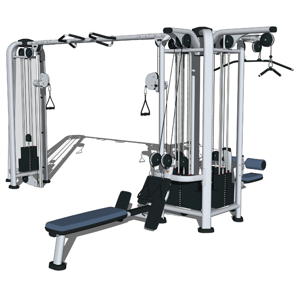 Life fitness multi jungle set 3d model formfonts 3d for Gym life fitness