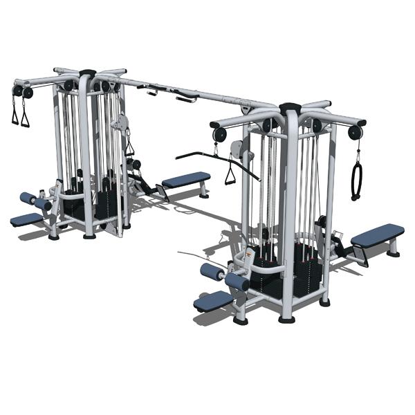 Life fitness multi jungle set 3d model formfonts 3d for Living room jungle gym