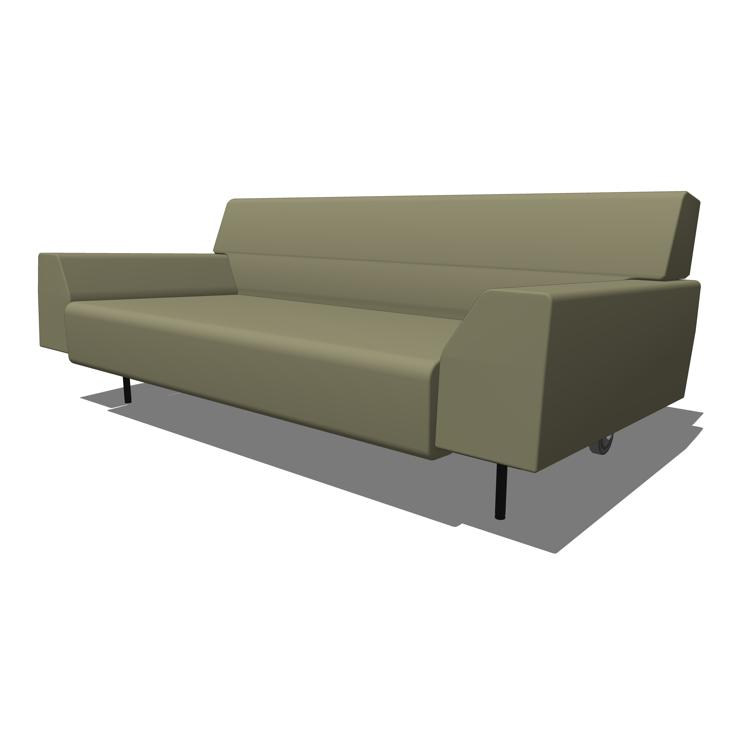 Cini boeri studio seating 3d model formfonts 3d models textures - Sofa roller ...