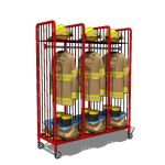 Clothing and equipment rack for Firehouse interior