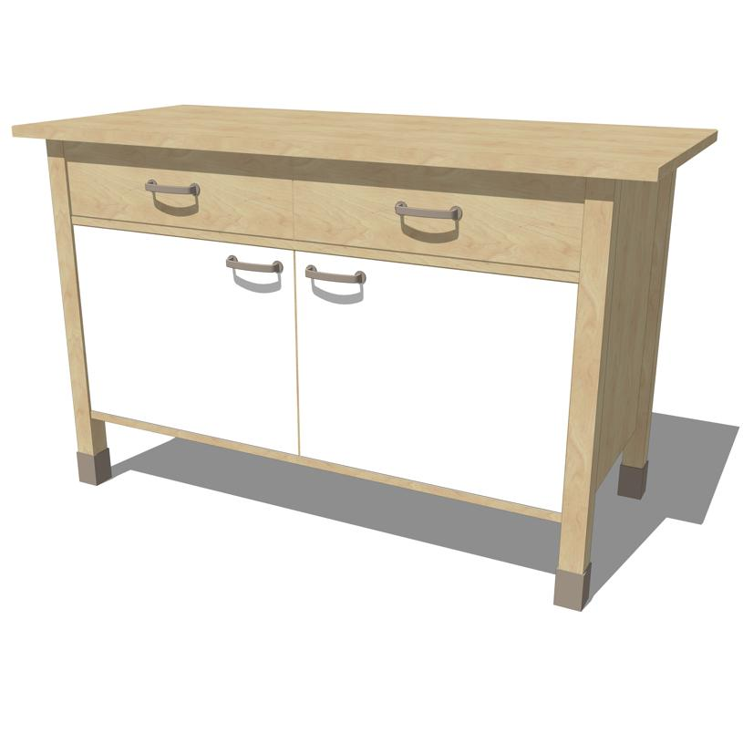 Ikea Free Standing Kitchen Cabinets: IKEA Varde Kitchen Cabinets 2 3D Model