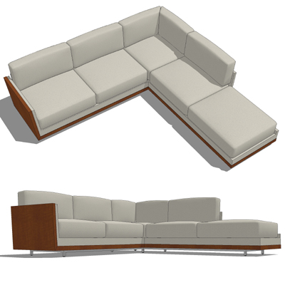 Decca Rottet Corner Sofa 3D Model Introduces A Collection Of Lounge Fu