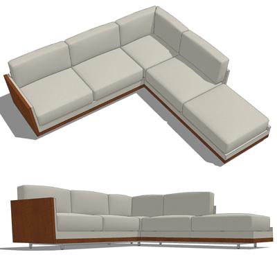 Decca Rottet Corner Sofa 3D Model