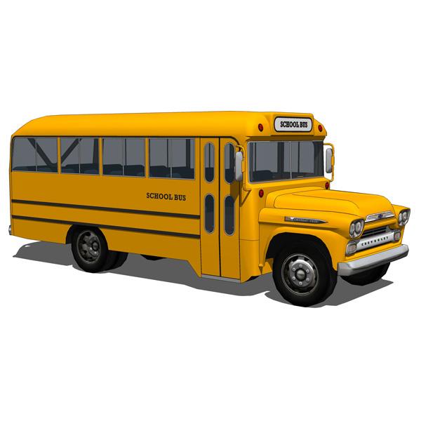 Chevrolet Viking Bus Set 3d Model Formfonts 3d Models Textures