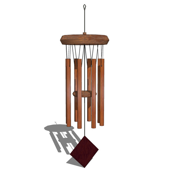 Wooden Wind Chimes 3d Model Formfonts 3d Models Amp Textures