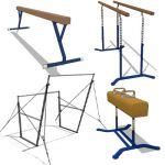 Collection of gymnastic equipment