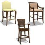Collection of 3 barstools