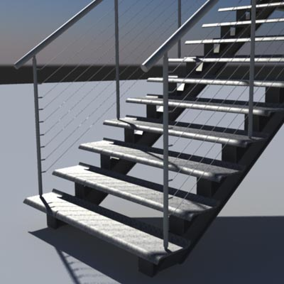 Escalera de metal 3d model formfonts 3d models textures for Escaleras 3d max