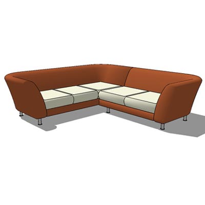 L sofa revit for Chaise lounge cad block