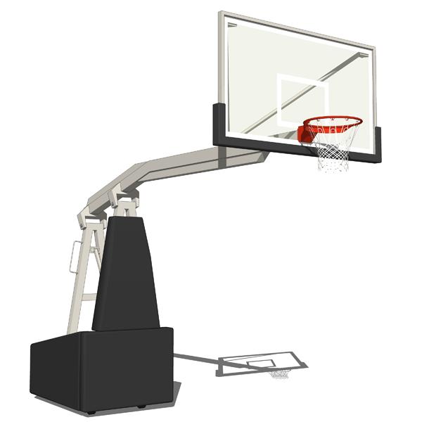 Gymnasium Basketball Hoops 3D Model - FormFonts 3D Models ...