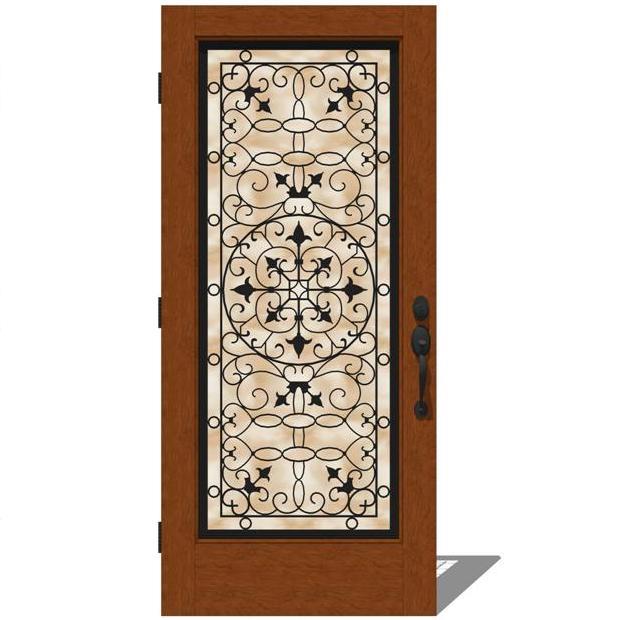 5037 exterior doors by jeld wen 3d model formfonts 3d for Jeld wen exterior doors