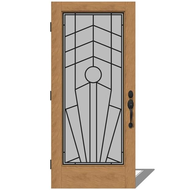 5037 exterior doors 2 by jeld wen 3d model formfonts 3d for Jeld wen exterior doors