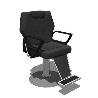 Barbers Chair 3d Model Formfonts Models Textures