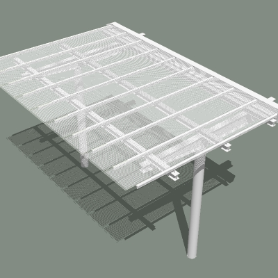 Glass And Steel Canopy 3d Model Formfonts 3d Models
