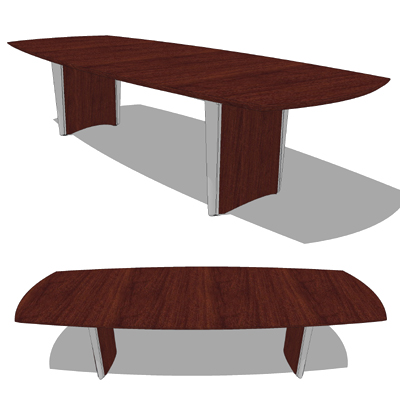 Nucraft Saber Conference Tables 3D Model FormFonts 3D Models