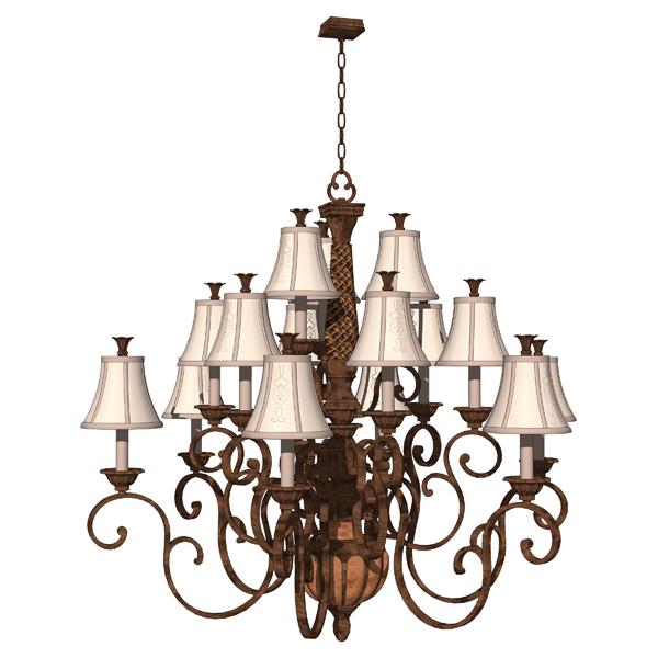 Classic chandeliers 3d model formfonts 3d models textures classic chandeliers 3d model aloadofball Images