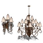 Classic style Wall Sconce and Chandelier.