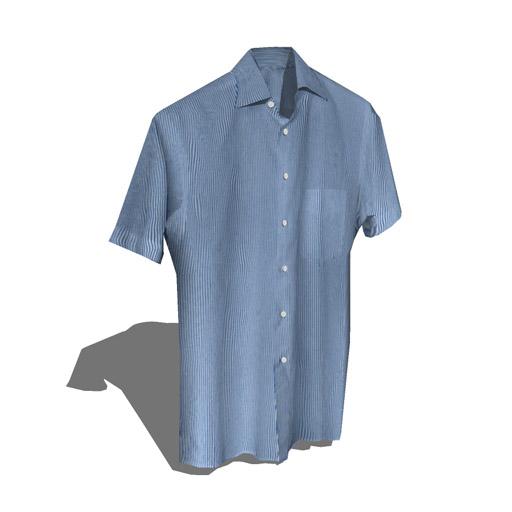 Short sleeve shirts set 2 3d model formfonts 3d models amp textures