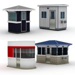 Four medium size guard houses.