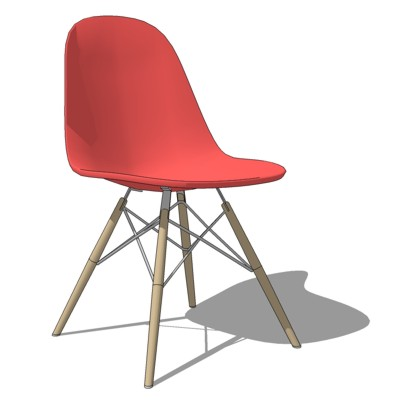 Eames Molded Plastic Chair in Wood Dowel Leg varia....