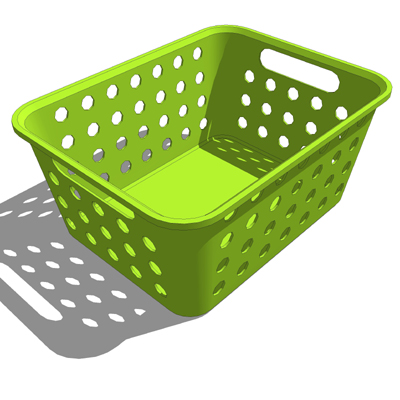A Collection Of Small Plastic Storage Baskets For