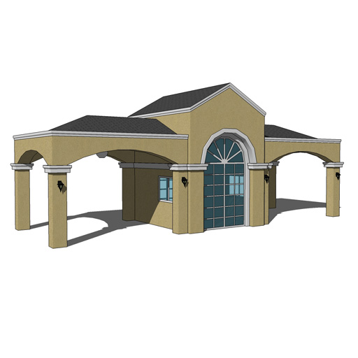 Guard Houses Large Size 3d Model Formfonts 3d Models