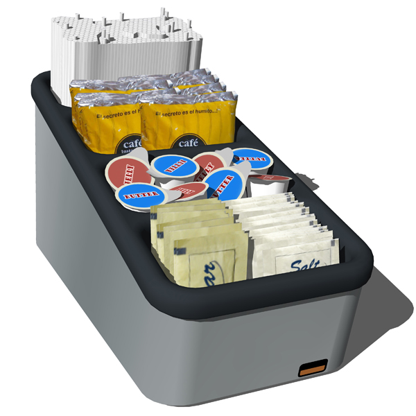 Server´s Condiment Counter Top Organizers. A....