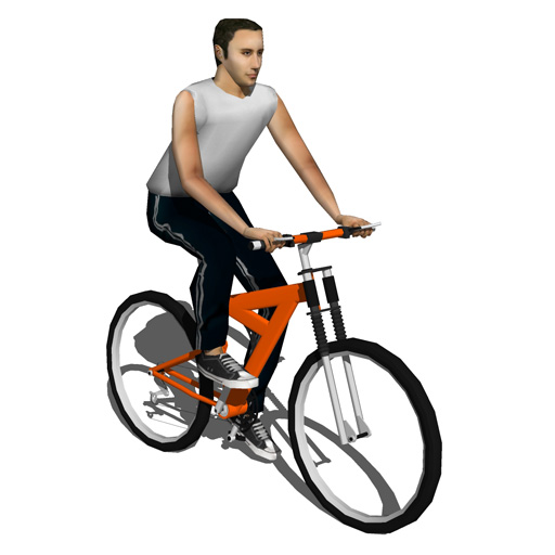 Bike riders set b 3d model