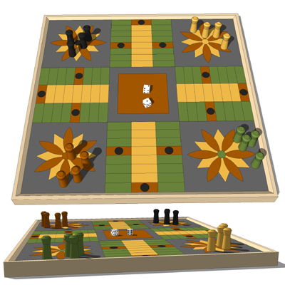 Four popular family board games..