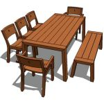 Viteo solo dining set