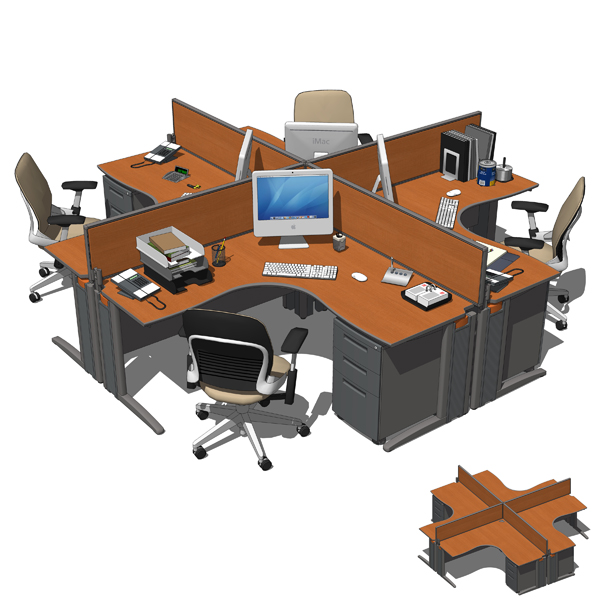 Office Sets 01 3d Model Formfonts 3d Models Amp Textures