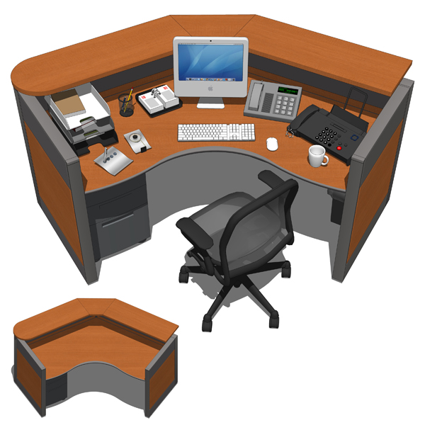 Fursys Reception Desks 3d Model Formfonts 3d Models