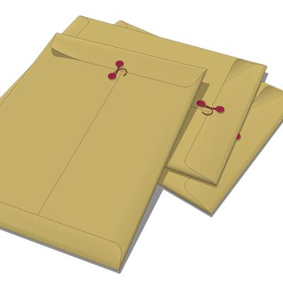 Manila Envelope 3D Model - Formfonts 3D Models & Textures