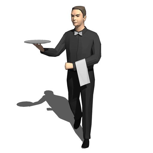Male Waiters 10 3d Model Formfonts 3d Models Amp Textures