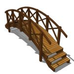 Pool bridge with effective maximum span of approx....