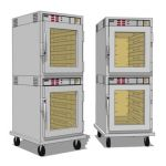Commercial Kitchen Heated Holding Cabinet. Stacked...