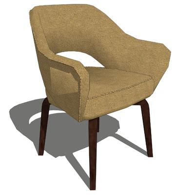Knoll Studio Saarinen Executive Chair 3d Model Formfonts
