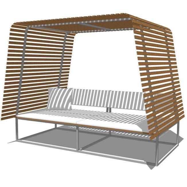 Illu Outdoor Seating Set Model Formfonts Models