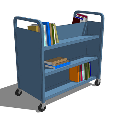 Library Cart Metal 3d Model Formfonts 3d Models Amp Textures