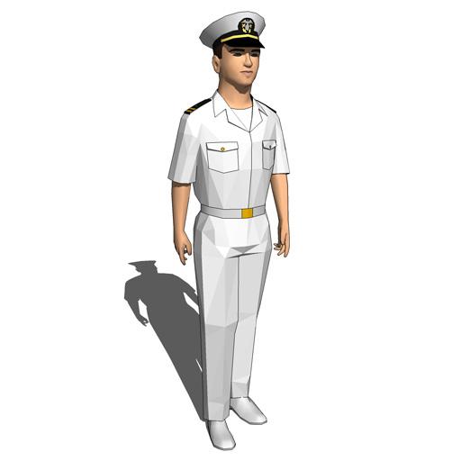 Navy Guys ficers 3D Model FormFonts 3D Models & Textures