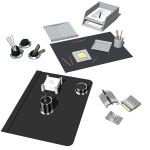 4 different desk accesories sets. Configuration in...